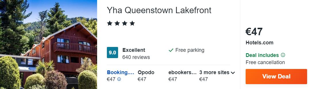 Yha Queenstown Lakefront
