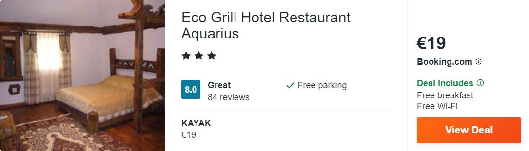 Eco Grill Hotel Restaurant Aquarius