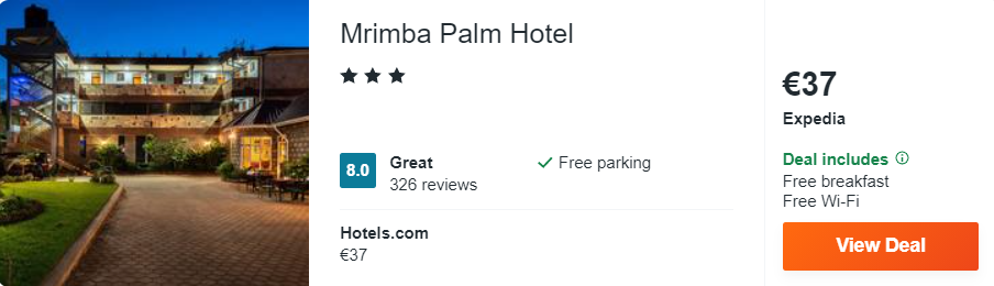 Mrimba Palm Hotel