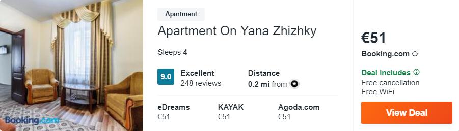 Apartment On Yana Zhizhky