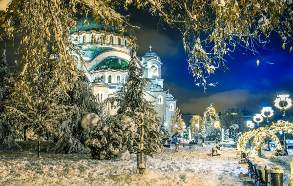 Сербія Белград зима
