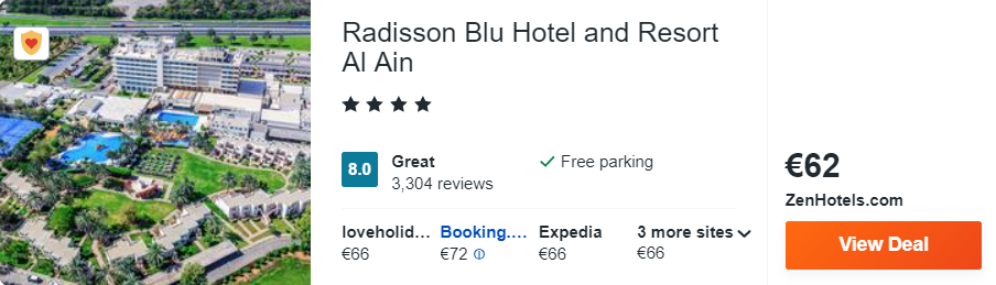 Radisson Blu Hotel and Resort Al Ain