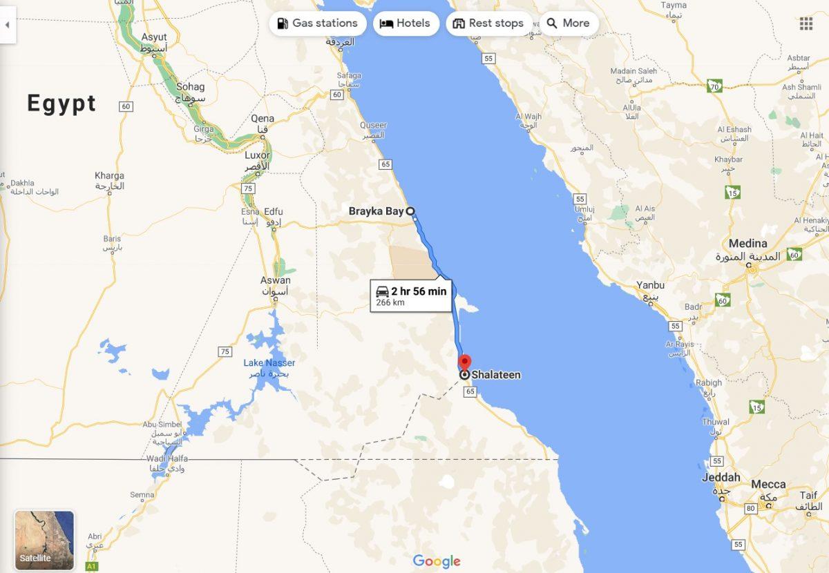 Маршрут Марса-Алам - Шалатін. Провінція Червоне море, Єгипет.