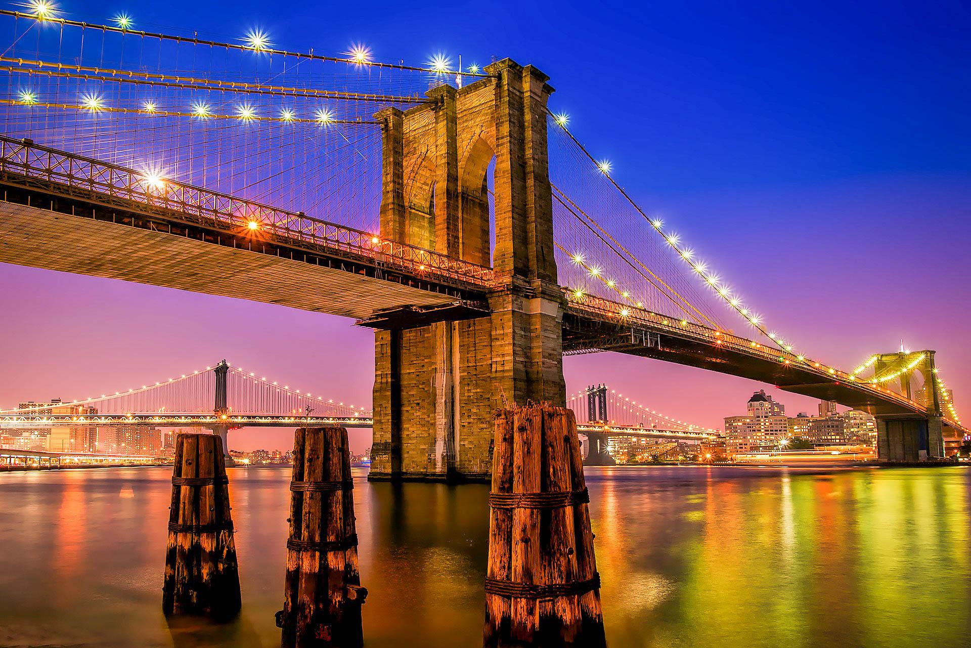 США Нью-Йорк Бруклінський міст
