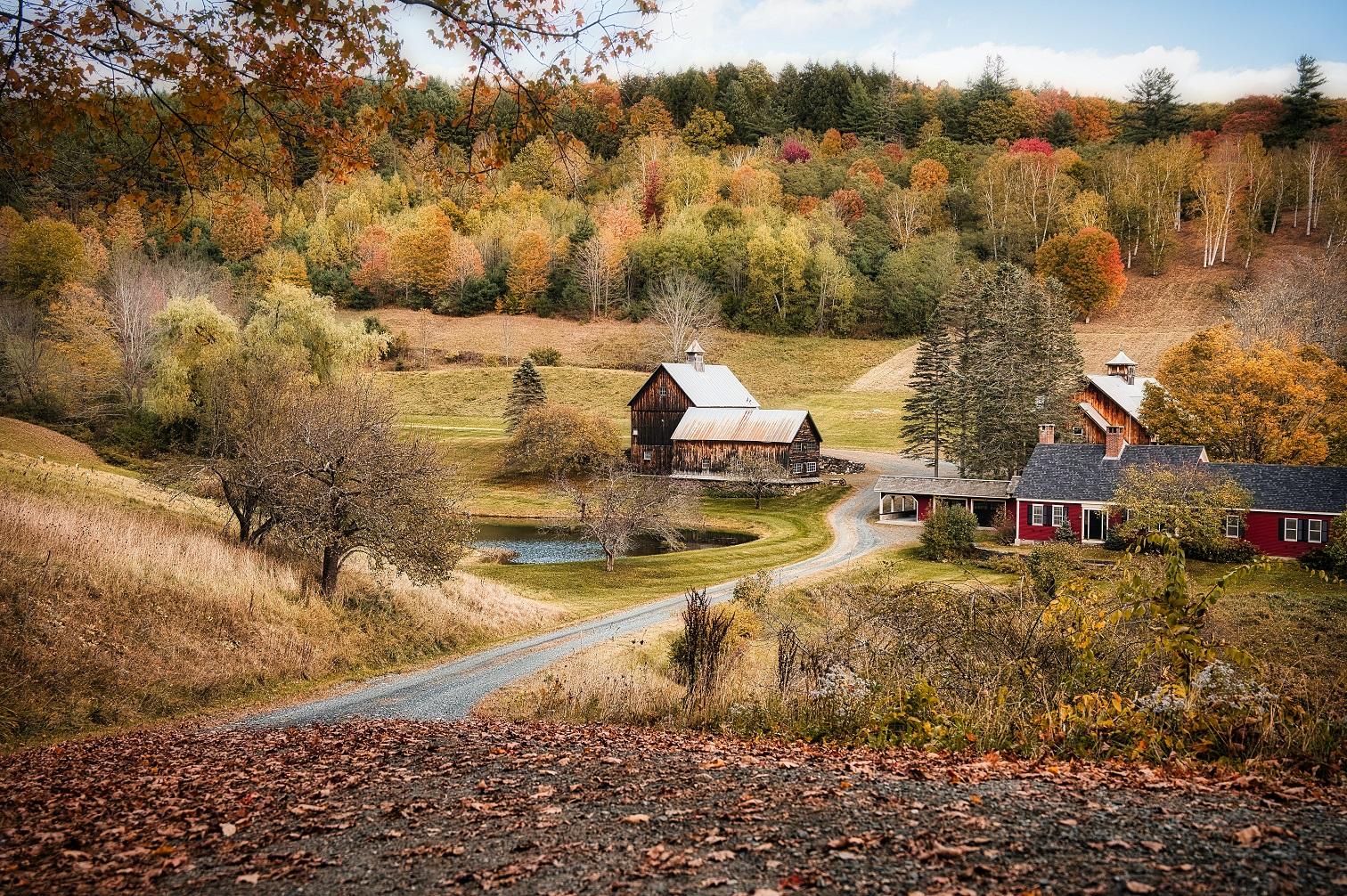 США Нова Англія Вермонт Вудсток