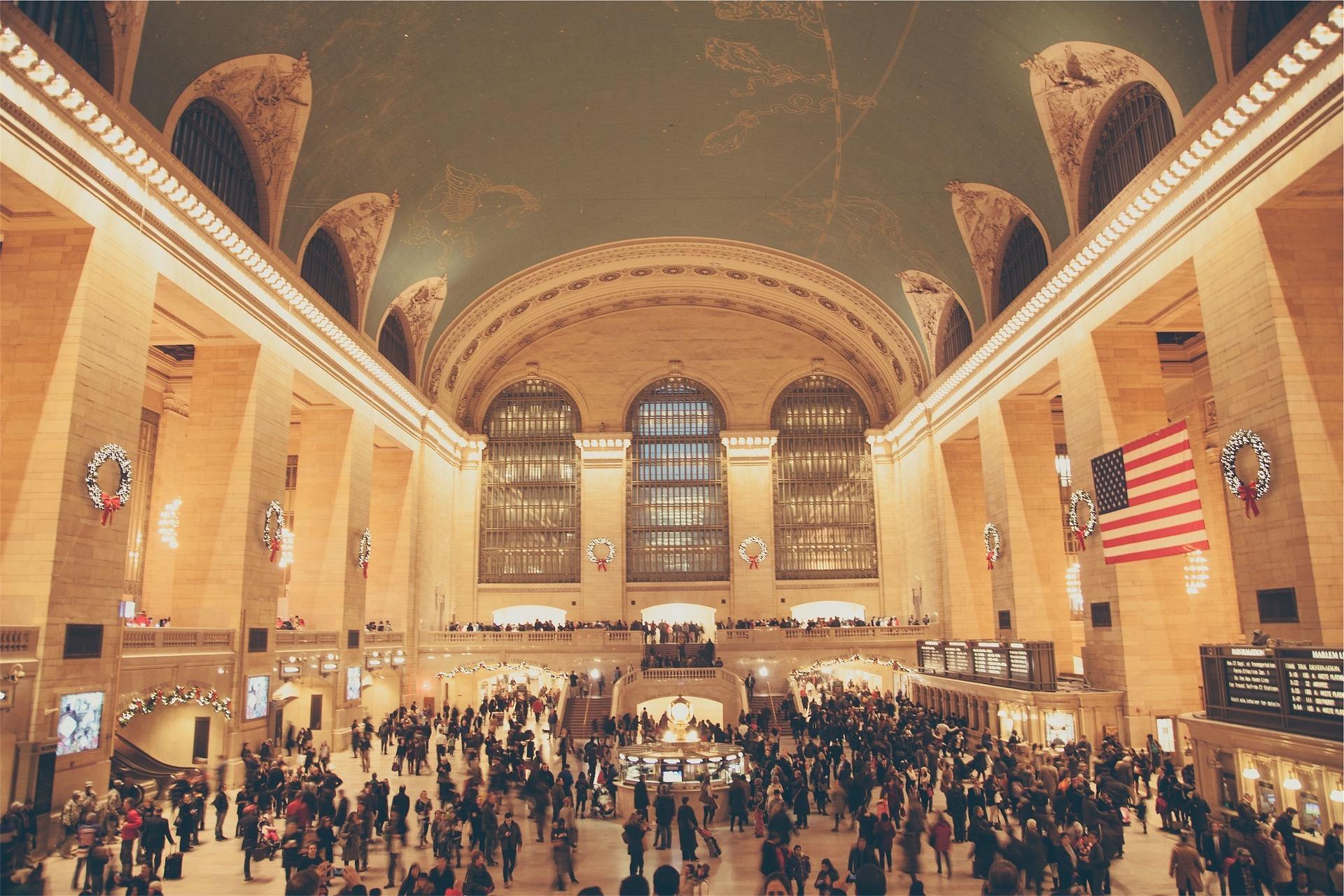 США Нью-Йорк вокзал