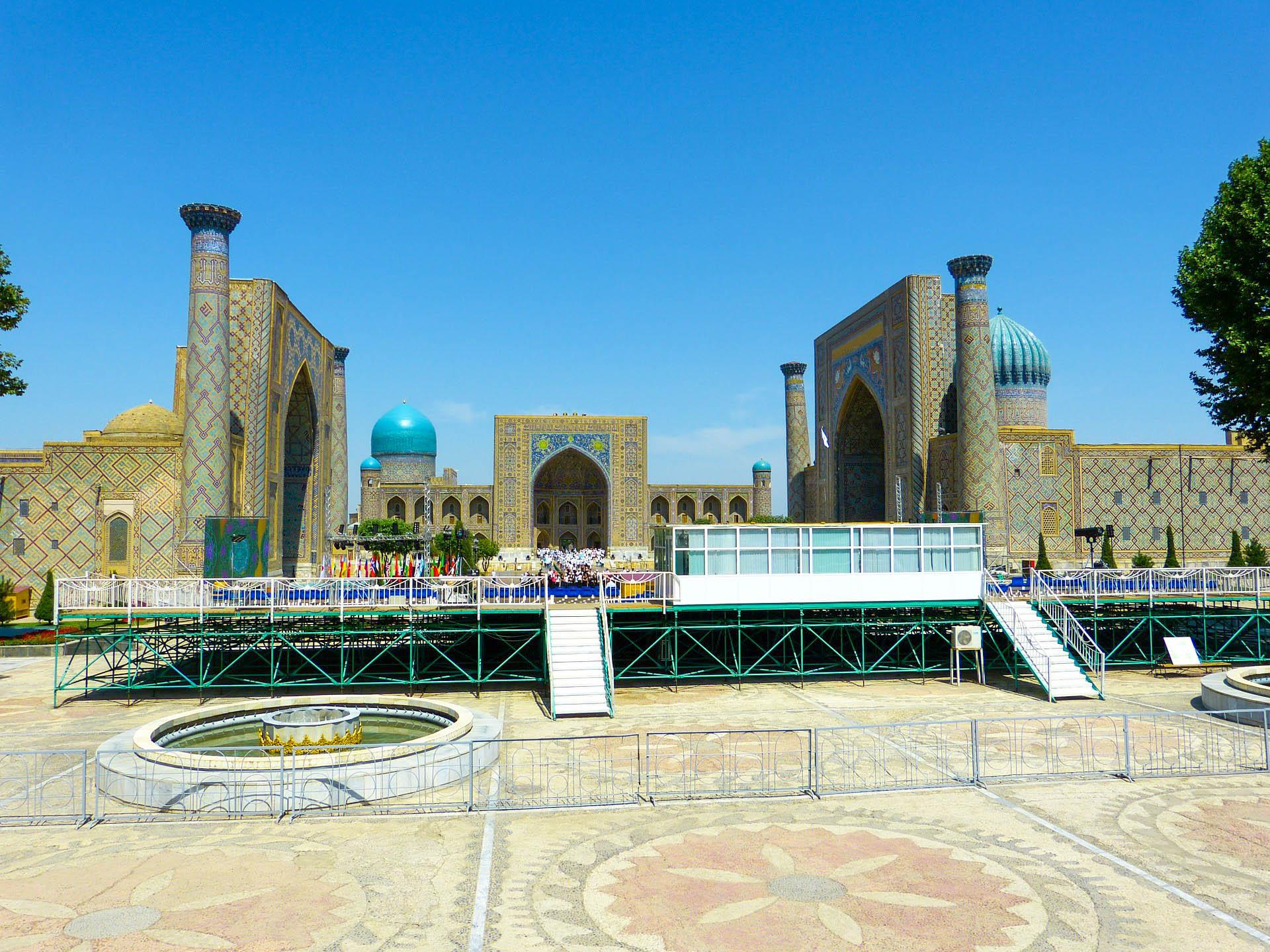 Узбекистан Самарканд Регістан