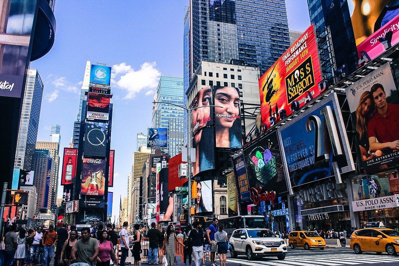 США Нью-Йорк Манхеттен Таймс Сквер