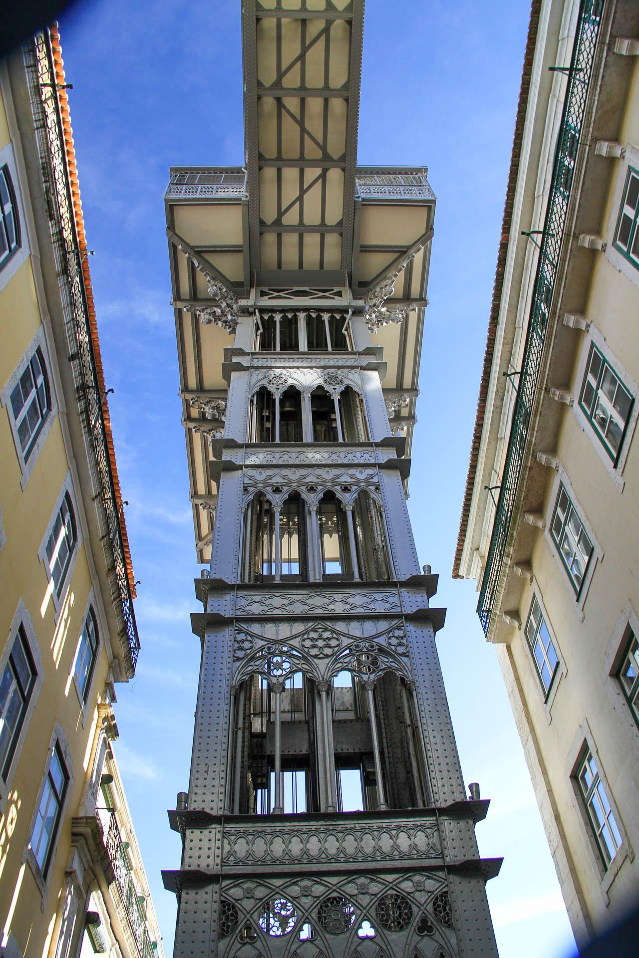 Португалія Лісабон Санта-Жуштський ліфт