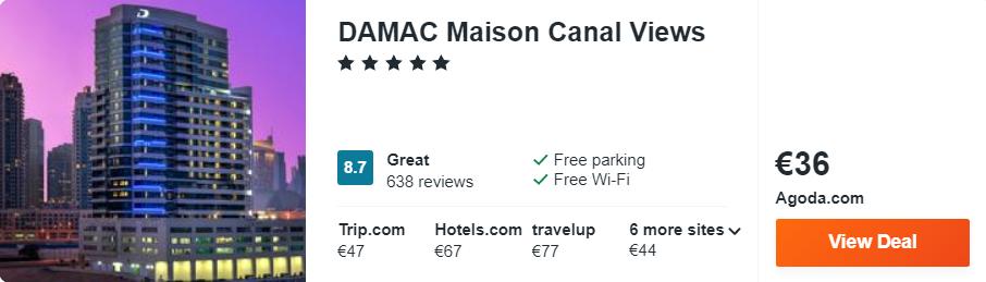 DAMAC Maison Canal Views