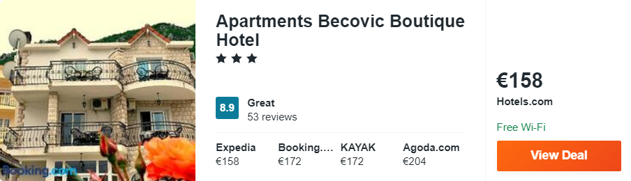 Apartments Becovic Boutique Hotel