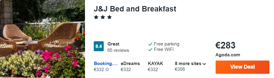 J&J Bed and Breakfast