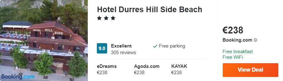 Hotel Durres Hill Side Beach