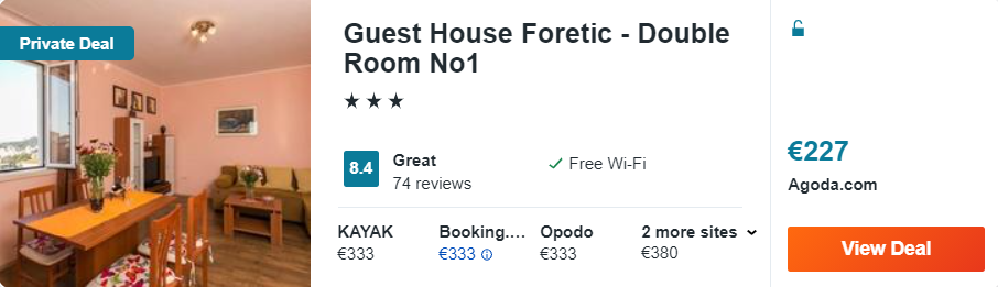 Guest House Foretic - Double Room No1