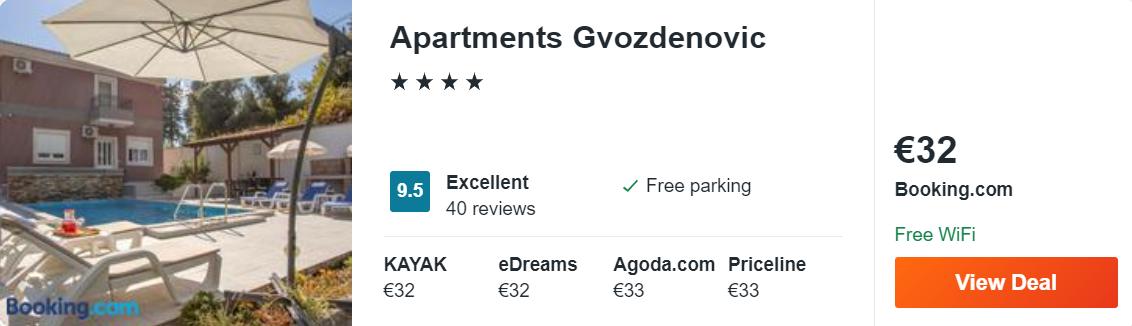 Apartments Gvozdenovic
