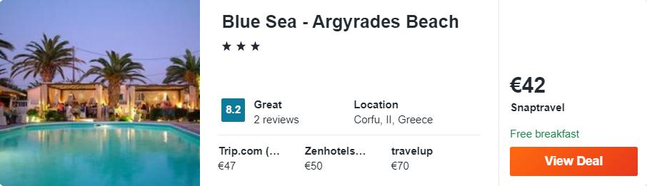 Blue Sea - Argyrades Beach