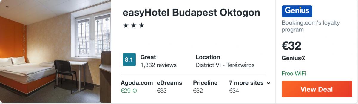 дешевий готель в Будапешті