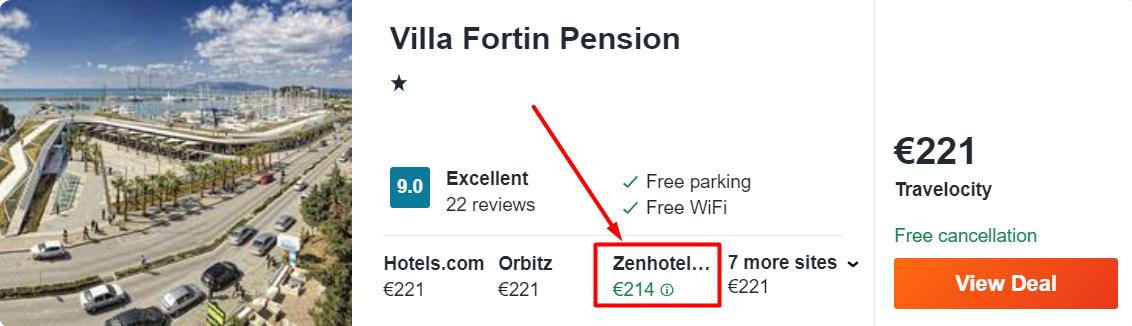Villa Fortin Pension