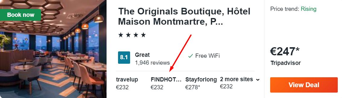 The Originals Boutique, Hôtel Maison Montmartre