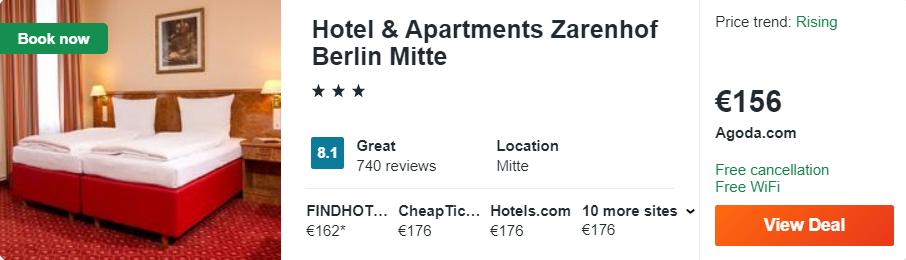 Hotel & Apartments Zarenhof Berlin Mitte