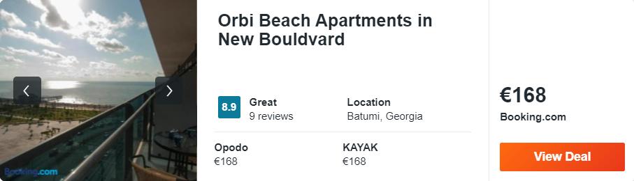 Orbi Beach Apartments in New Bouldvard