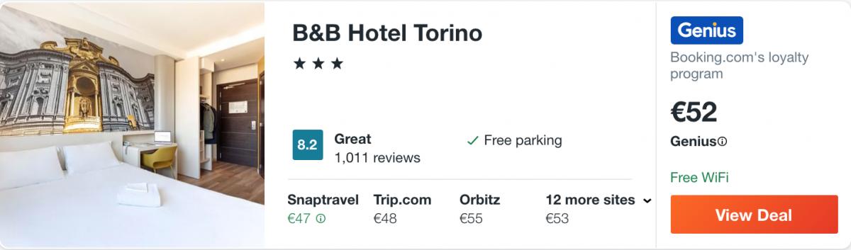 готель в Турині