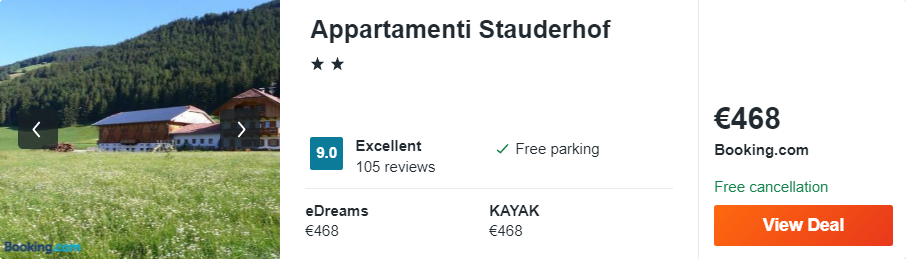 Appartamenti Stauderhof