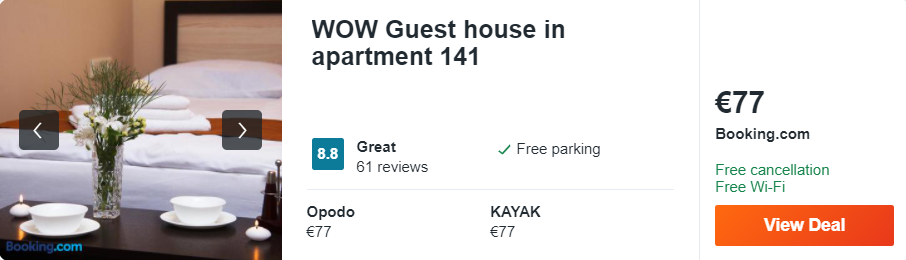 WOW Guest house in apartment 141