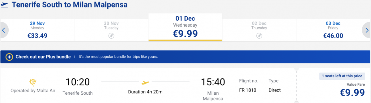 дешеві квитки в Мілан