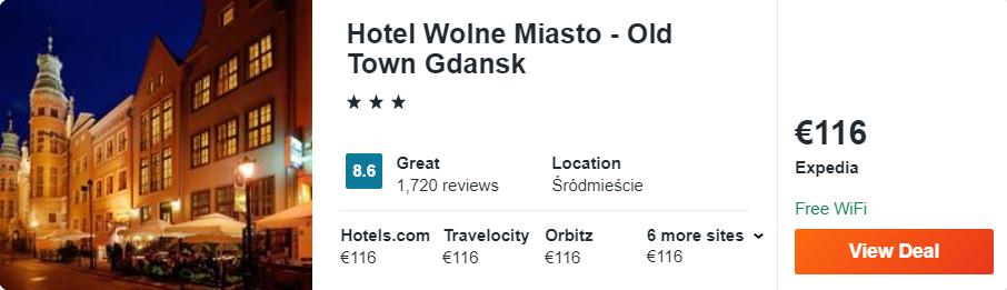 Hotel Wolne Miasto - Old Town Gdansk
